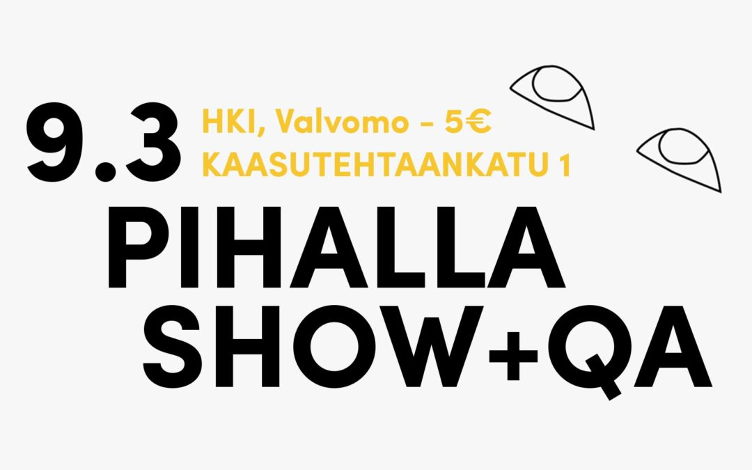 Charity-show + QA in Suvilahti 9.3 15:00 (5€)